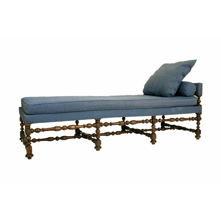 a french 19th century oak chaise in the louis xiii style. Black Bedroom Furniture Sets. Home Design Ideas