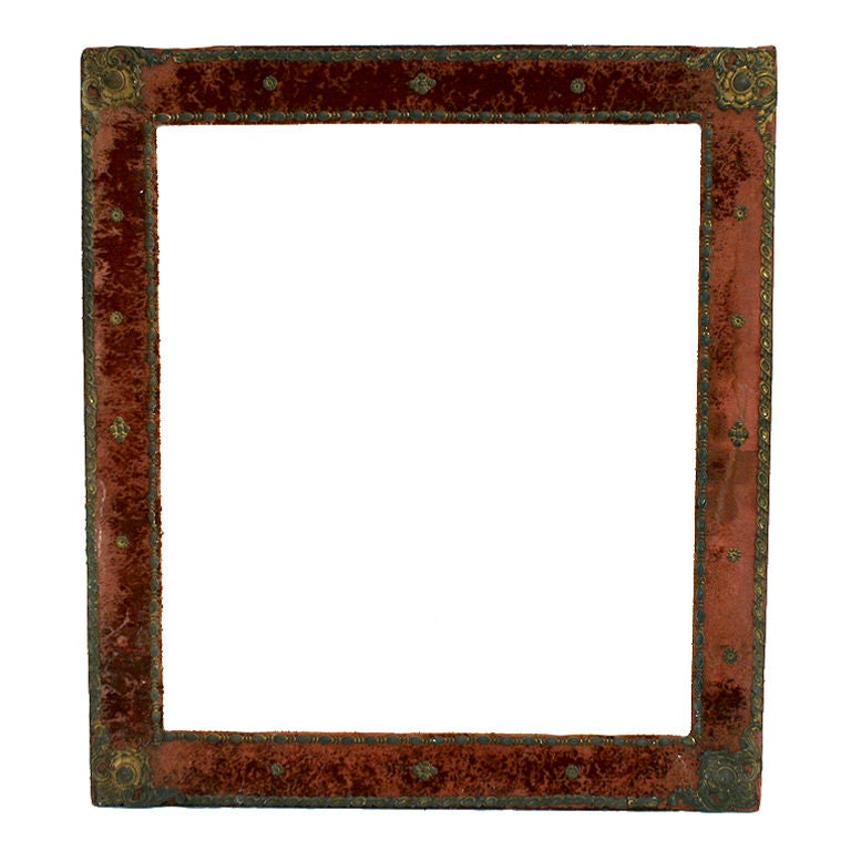 Glasses Frame In Spanish : Spanish Baroque Style Velvet Upholstered and Brass Mounted ...