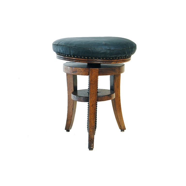 A French Directoire Fruitwood Piano Stool At 1stdibs