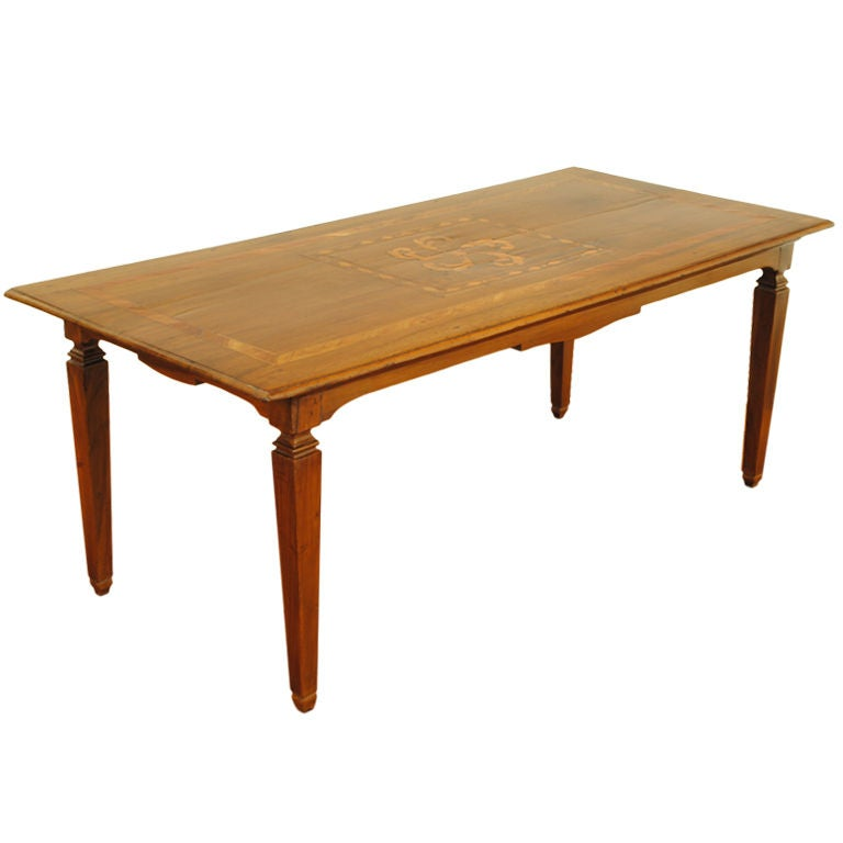 An italian walnut and inlaid neoclassical style coffee table at 1stdibs Tuscan style coffee table