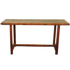 A Spanish Early Baroque Period Pinewood  Work Table