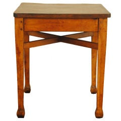 An English Arts and Crafts Pinewood and Oak Center Table