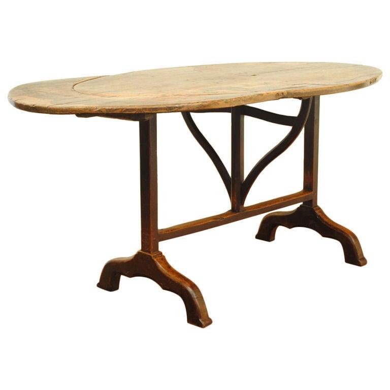 Vintage Folding Table : Antique French Walnut Folding Vendage Table at 1stdibs
