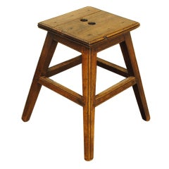 A French 19th Century Elmwood Stool or Low Table