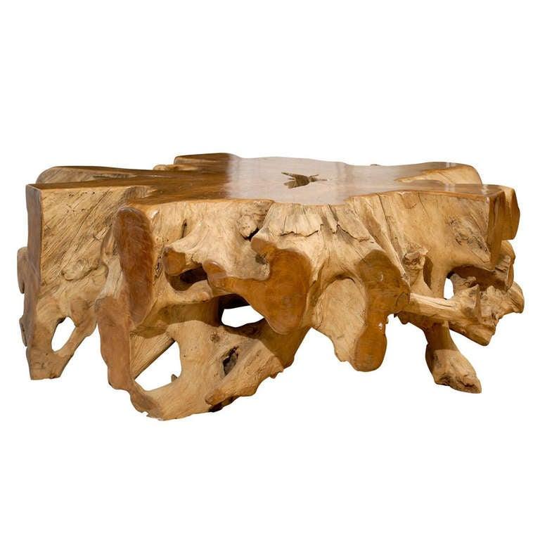 Oak Root Coffee Table: Teak Root Coffee Table At 1stdibs