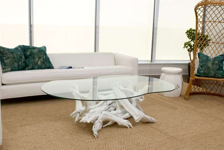White driftwood coffee table image 5 for White driftwood coffee table
