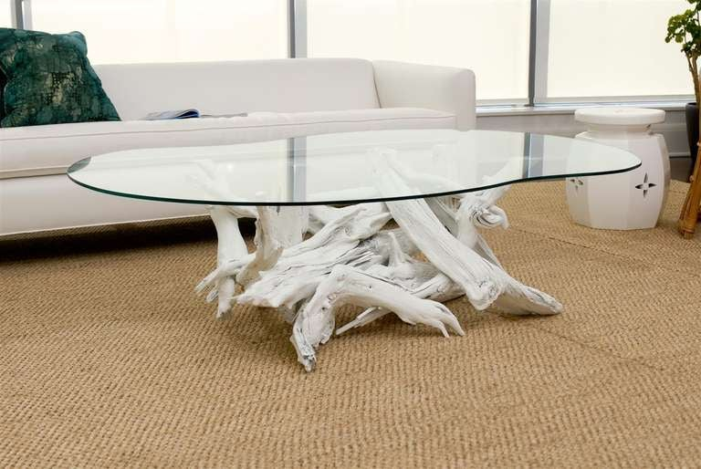 White driftwood coffee table image 6 for White driftwood coffee table