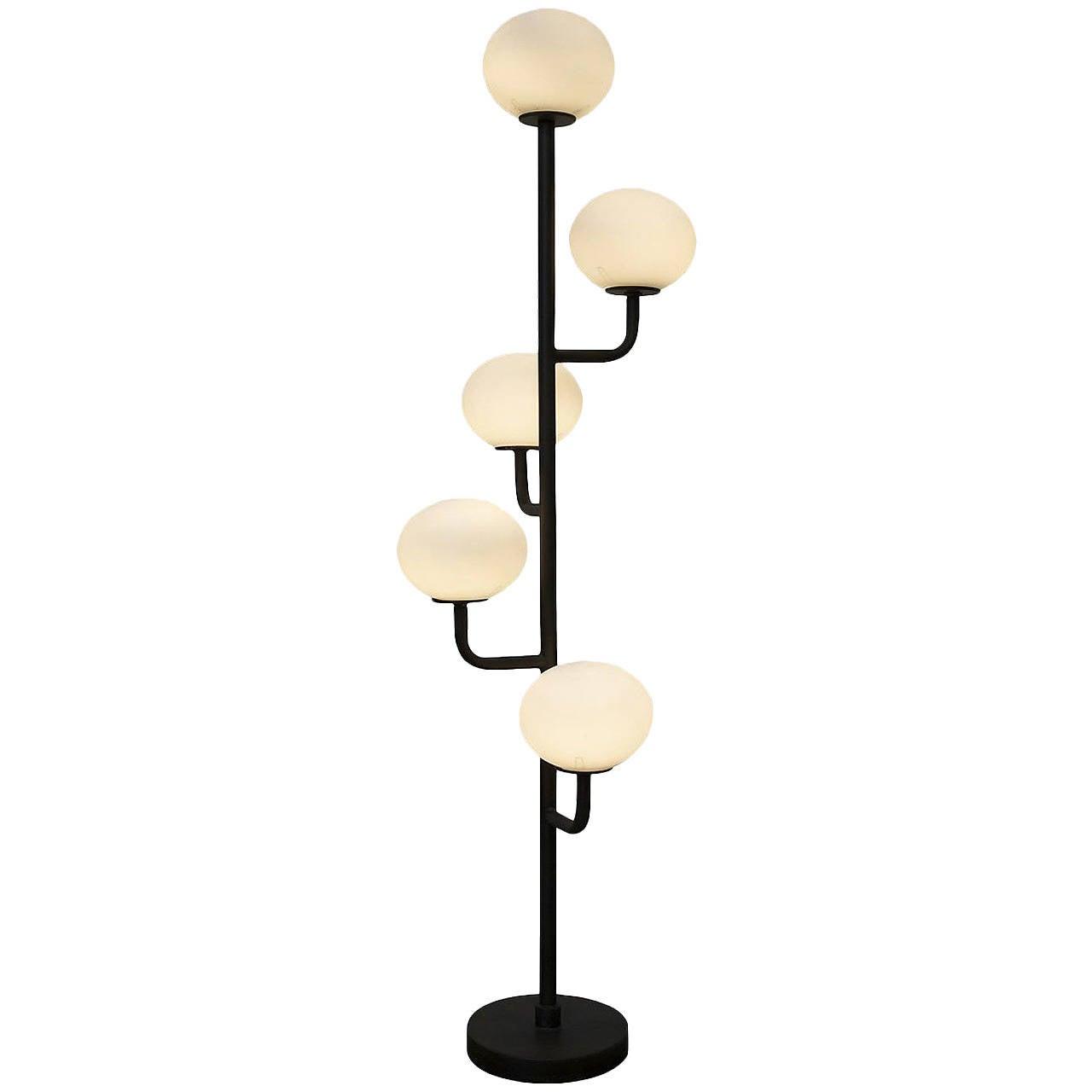 Globe floor lamp at 1stdibs for Gold globe floor lamp