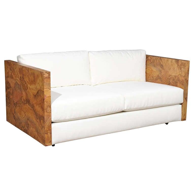 Wood Framed Love Seat At 1stdibs