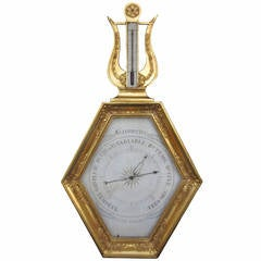 Exceptional Early 19th Century Giltwood Barometer