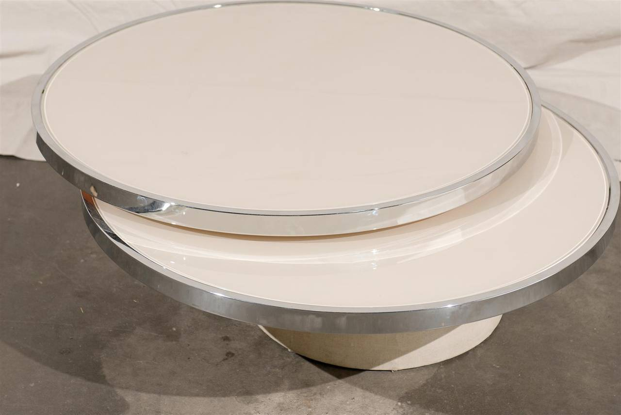 Revolving Glass Coffee Table Santaconapp