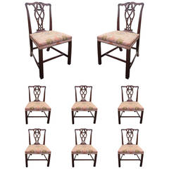 Early 19th Century English, Set of Eight George II Mahogany Chairs