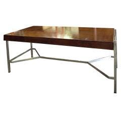 Fabulous Wooden Desk With Chrome Tressle