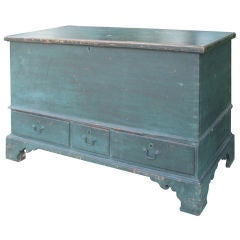 Late 18th Century Painted Blanket Chest, Probably from Pennsylvania