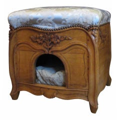 19thc French Dog Bed/ottoman