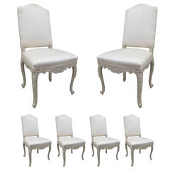 Set of Six 20th Century Regence Style Dining Chairs