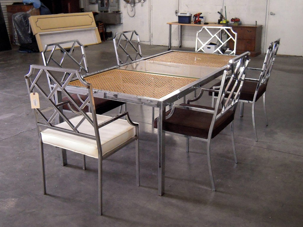 this chrome dining set by milo baughman is no longer available