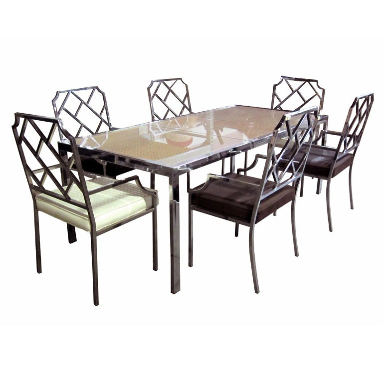 Chrome Dining Room Sets: Chrome Dining Set By Milo Baughman For Sale At 1stdibs