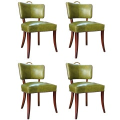 Set Of 4 1950's Hollywood Regency Klismos Chairs, Style Of D. Draper