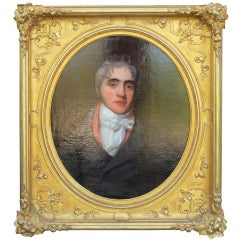 19thc English Portrait Of Man