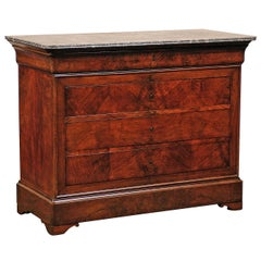 19th Century Louis Philippe Commode with Marble Top