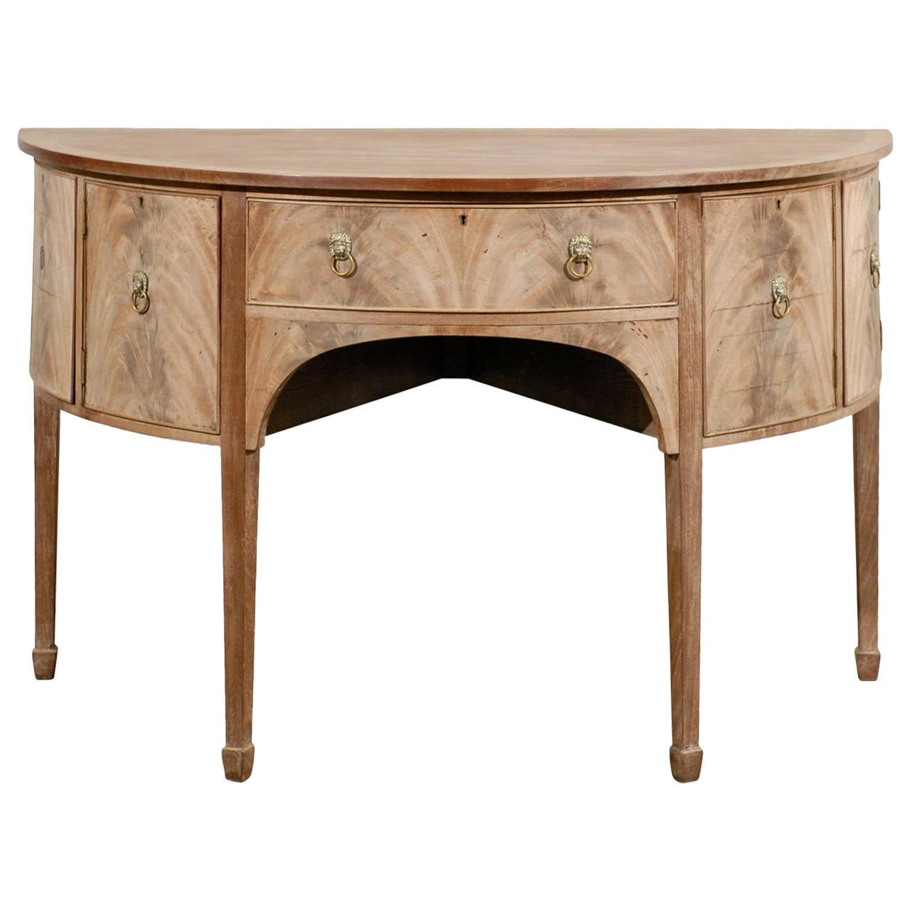 19th Century English Bleached Mahogany, George II Sideboard