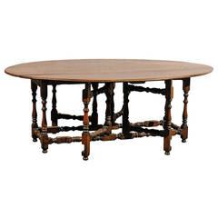 20th Century Large Old Gateleg Table
