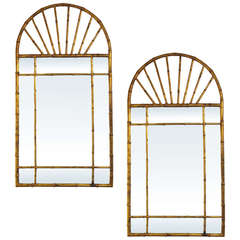Pair of Vintage La Barge Gilded Mirrors