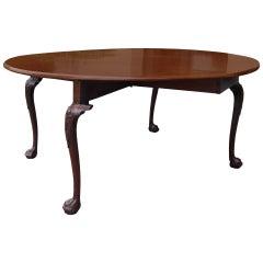 18th-19th Century George II Mahogany Cabriole Drop-Leaf Table