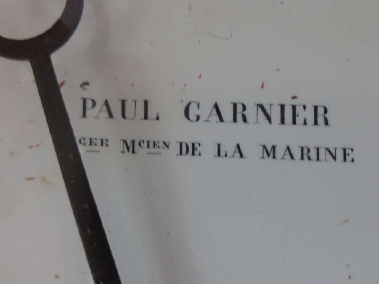19th Century French Painted Tole Clock by Paul Garnier For Sale 1