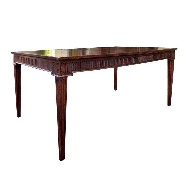 20th Century Don Rousseau Walnut Dining Table