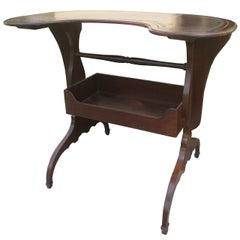 18th-19th Century French Kidney Shape Leather Top Writing Table