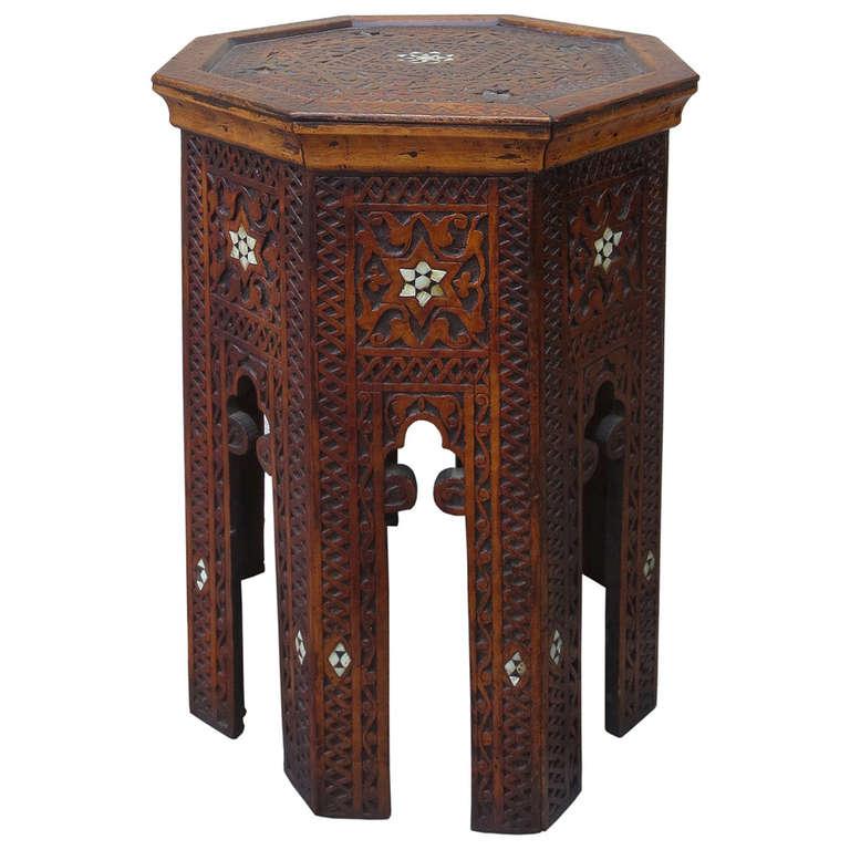 Moroccan Side Table Circa 1900 At 1stdibs