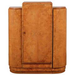 1930s Art Deco Burl Wood Cabinet