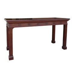 18th-19th Century English, Blind Fretwork Serving Table