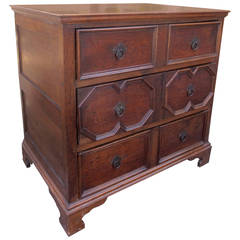 19th Century Jacobean Style English Oak Chest
