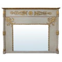 Very Elegant 19th Century Regency Painted & Gilt Mirror