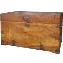 19th Century Camphor Wood Trunk