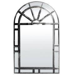 Mid C Multi-Paneled and Beveled Mirror