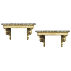 Pair of 18th Century Continental Giltwood Consoles