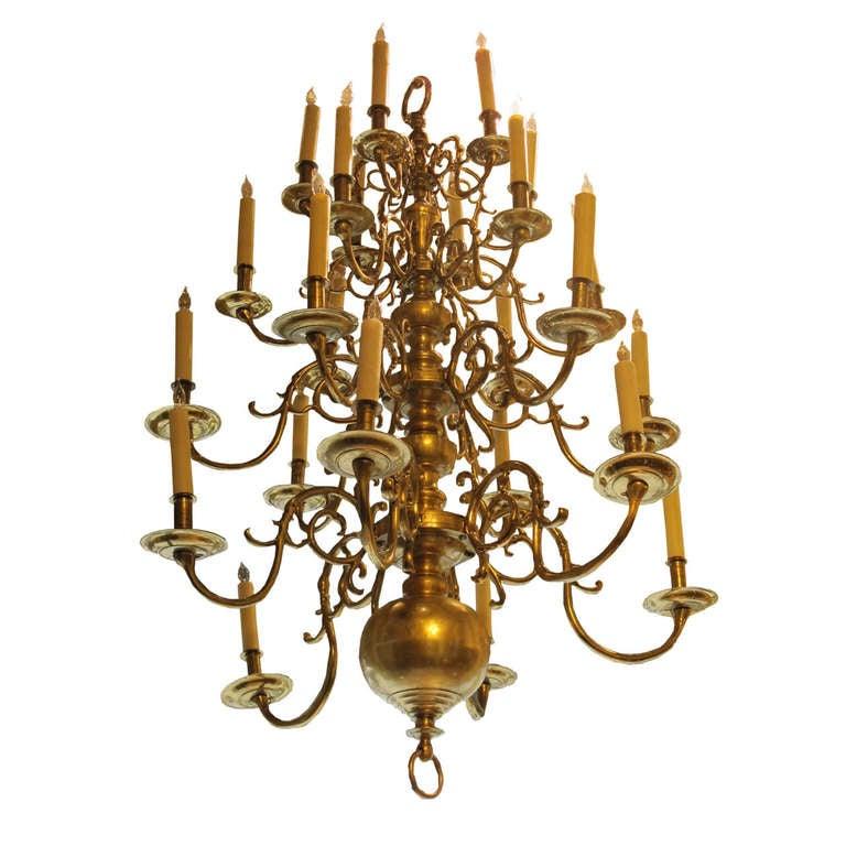 Georgian Chandelier: Georgian Style Brass Chandelier, Circa 1870 At 1stdibs