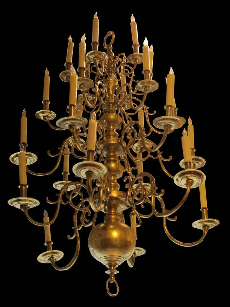 Georgian Chandelier: Georgian Style Brass Chandelier, Circa 1870 At 1stdibs