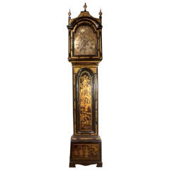 Georgian Japanned and Parcel-Gilt Long Case Clock, Mid-18th Century