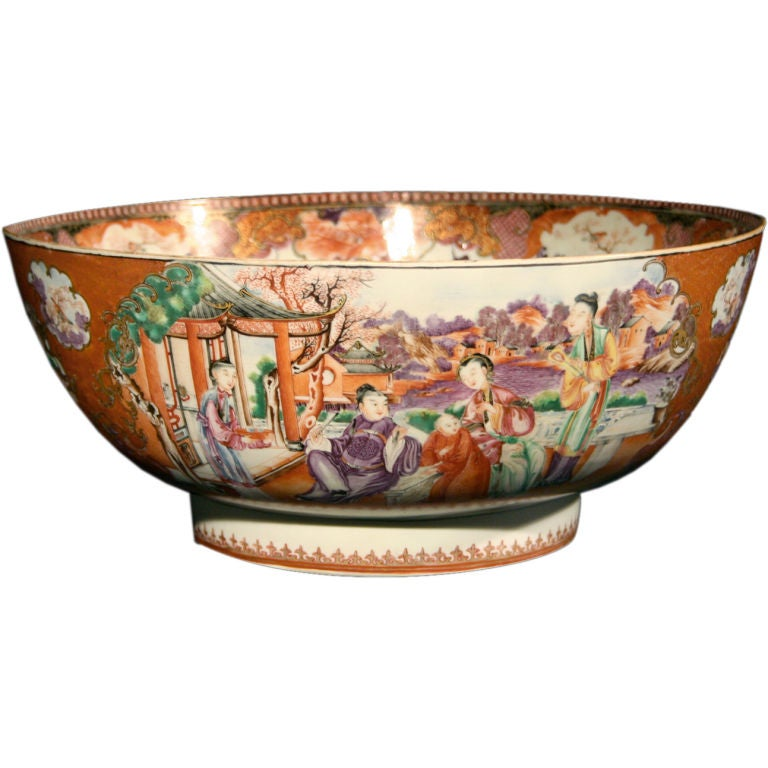 Chinese export famille rose porcelain bowl at 1stdibs for Chinese furniture newcastle