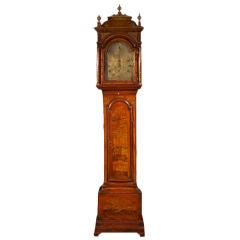 Mid 18th Century Red Lacquered Long Case Clock