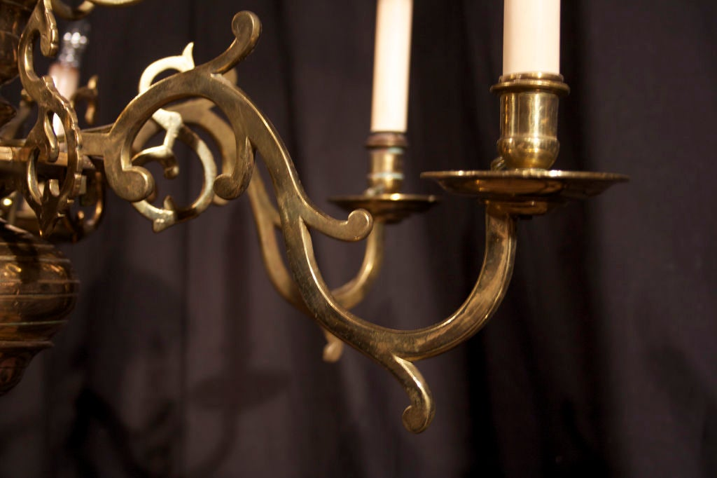 Anglo Dutch Brass Chandelier Early 18th Century At 1stdibs