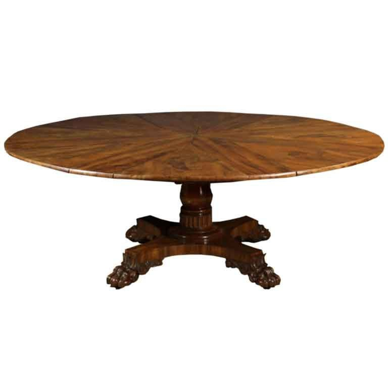 Walnut Jupe Dining Table At 1stdibs