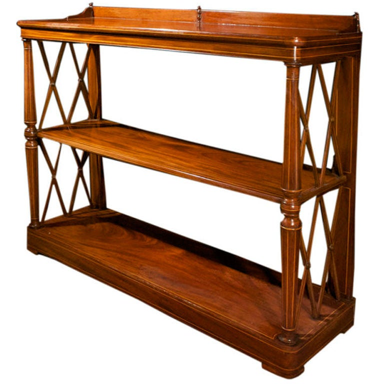 Charles x mahogany etagere at 1stdibs - Etagere cases carrees ...