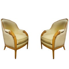Comfortable Pair of Art Deco Armchairs after Follot, French, circa 1925