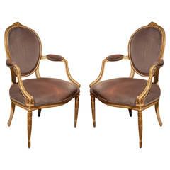 Pair of George III Chairs, English, circa 1770